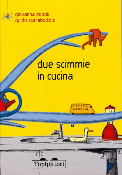 Topipittori - Due scimmie in cucina  - copertina